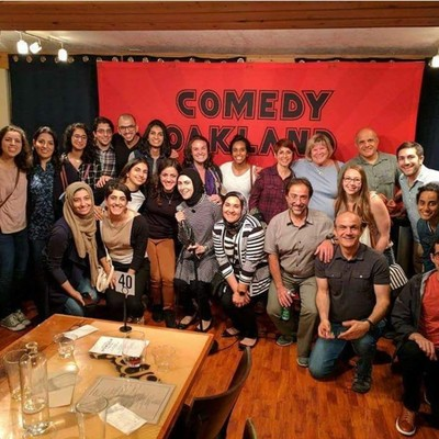 Group picture after show at Comedy Oakland