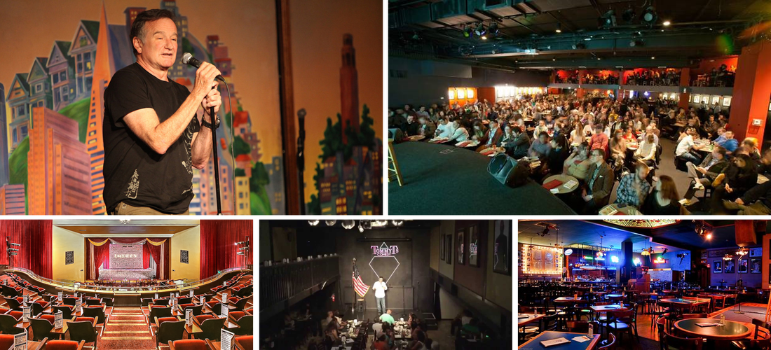 Punch Line Comedy Club, Cobb's Comedy Club, Improv Comedy Club, Tommy Ts Comedy Club, Rooster T Feathers Comedy Club